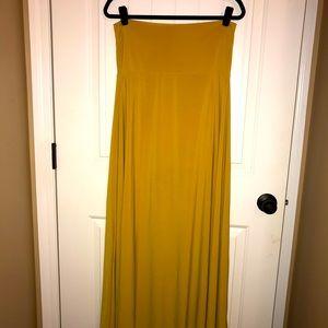 LuLaRoe Golden Maxi Skirt
